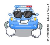 super cool police car in the... | Shutterstock .eps vector #1319176175