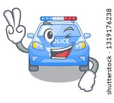two finger police car in the... | Shutterstock .eps vector #1319176238