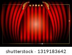 hollywood oscar template... | Shutterstock .eps vector #1319183642