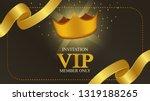 luxury glamorous membership vip ... | Shutterstock .eps vector #1319188265