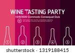 design idea for party  tasting... | Shutterstock .eps vector #1319188415