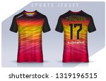 t shirt sport design template ... | Shutterstock .eps vector #1319196515