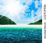 beautiful sunny tropical beach... | Shutterstock . vector #131919986
