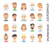 set of caucasian male and...   Shutterstock .eps vector #1319209415
