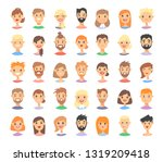 set of caucasian male and... | Shutterstock .eps vector #1319209418