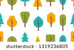 seamless pattern with trees....   Shutterstock .eps vector #1319236805