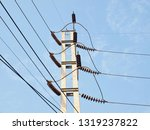 high voltage electrical cable... | Shutterstock . vector #1319237822