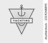 yachting club logo set.... | Shutterstock .eps vector #1319248895