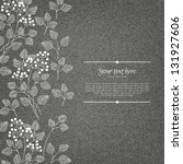 banner on denim background with ... | Shutterstock .eps vector #131927606