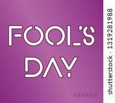 fools day poster. isolated... | Shutterstock .eps vector #1319281988