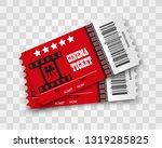 vector cinema tickets isolated ... | Shutterstock .eps vector #1319285825
