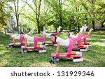 group of young women doing... | Shutterstock . vector #131929346