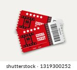vector cinema tickets isolated... | Shutterstock .eps vector #1319300252