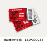 vector cinema tickets isolated... | Shutterstock .eps vector #1319300255