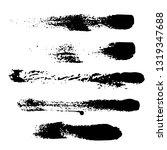 set of black ink hand drawn... | Shutterstock .eps vector #1319347688