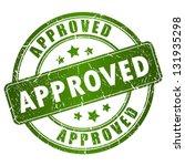 vector approved stamp | Shutterstock .eps vector #131935298