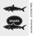 shark set. isolated icons shark.... | Shutterstock .eps vector #1319367485