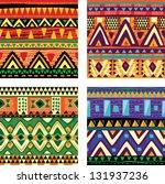 seamless tribal texture | Shutterstock .eps vector #131937236