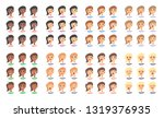 set of female emoji characters. ... | Shutterstock .eps vector #1319376935