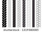 ropes pattern brushes. braids... | Shutterstock .eps vector #1319380085