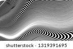 vector 3d striped waves....   Shutterstock .eps vector #1319391695