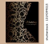 antique royal luxury wedding...   Shutterstock .eps vector #1319399015
