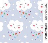 seamless pattern funny kawaii...   Shutterstock .eps vector #1319403632