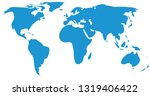 blue world map | Shutterstock .eps vector #1319406422