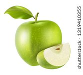 realistic apple fruit vector | Shutterstock .eps vector #1319410355