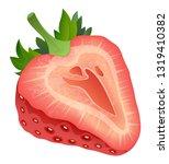 realistic strawberry fruit... | Shutterstock .eps vector #1319410382