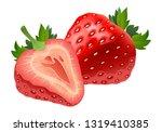 realistic strawberry fruit... | Shutterstock .eps vector #1319410385