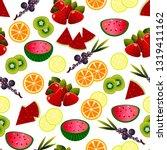 trendy tropics cool wallpaper.... | Shutterstock .eps vector #1319411162
