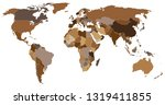 political world map | Shutterstock .eps vector #1319411855