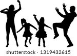 happy family. dancing... | Shutterstock .eps vector #1319432615