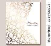antique royal luxury wedding...   Shutterstock .eps vector #1319433128