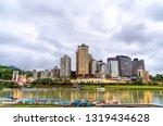 view of bitan in xindian... | Shutterstock . vector #1319434628