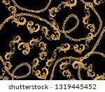 seamless hand drawn  baroque...   Shutterstock .eps vector #1319445452