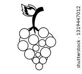 grapes fresh fruit isolated... | Shutterstock .eps vector #1319447012