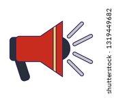 emergency bullhorn symbol blue... | Shutterstock .eps vector #1319449682
