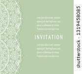 invitation or card template...   Shutterstock .eps vector #1319458085