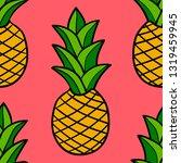 cartoon doodle pineapple... | Shutterstock .eps vector #1319459945