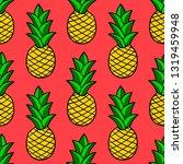 cartoon doodle pineapple... | Shutterstock .eps vector #1319459948