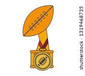 american football sport game...   Shutterstock .eps vector #1319468735