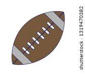 american football ball symbol...   Shutterstock .eps vector #1319470382