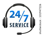service call center   around... | Shutterstock . vector #131947226