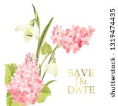 save the date card with... | Shutterstock .eps vector #1319474435