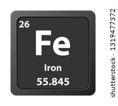 iron fe chemical element icon....   Shutterstock .eps vector #1319477372