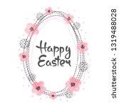 easter card design with egg...   Shutterstock .eps vector #1319488028