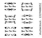 set of vector vintage frames on ...   Shutterstock .eps vector #1319488052