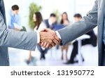 business handshake and business ... | Shutterstock . vector #131950772